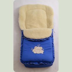 Спальний мішок Ассоль на овчині Волошковий