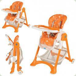 Стільчик для годування Bambi M 2430-7 Помаранчево-білий
