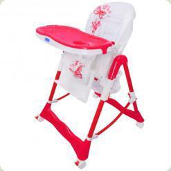 Стільчик для годування Bambi RT 002-1-8 Pink / White