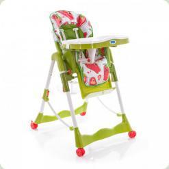 Стільчик для годування Bambi RT 002 K Зелений з полуницею