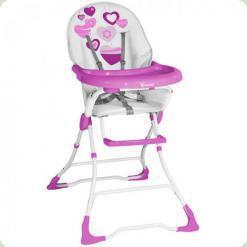 Стільчик для годування Bertoni Candy Pink Hearts