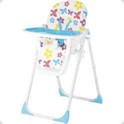 Стільчик для годування Bertoni Siesta Butterfly and flowers Blue