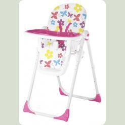 Стільчик для годування Bertoni SIESTA (butterfly and flowers pink)
