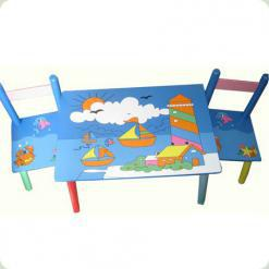 Столик Bambi E 03-2100 з двома стільчиками