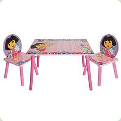 Столик Bambi J 002-051 квадратний з двома стільчиками Даша