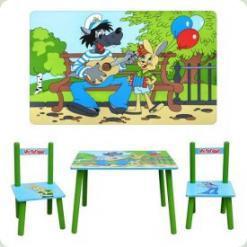 Столик Bambi M 1433 з двома стільчиками Ну, Постривай!