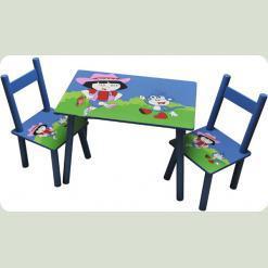 Столик з двома стільчиками Baby Tilly Дора ( W02-887/Н921 )