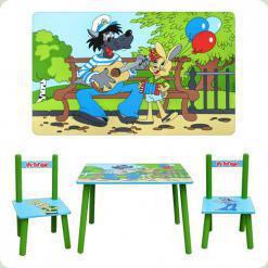 Столик з двома стільчиками Bambi M 1 433 Ну, Постривай!
