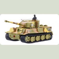 Танк мікро р/у 1:72 Tiger із звуком (хакі коричневий)
