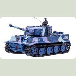 Танк мікро р/у 1:72 Tiger із звуком (хакі синій)