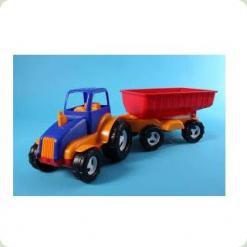 Трактор з причепом