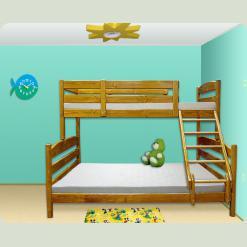 """Тримісне двох'ярусне ліжко-трансформер """"Ірель"""""""