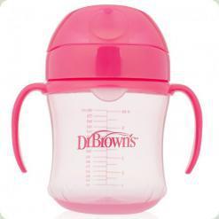 Тренувальний поїльник з м'яким носиком Dr. Brown's 6 м+ Рожевий (61001)
