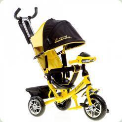 Триколісний велосипед Azimut Lambortrike Піна з Фарою Жовтий (BC-17B Fara)