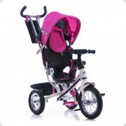 Триколісний велосипед Azimut Trike Air BC-17 Спиця Біло-рожевий