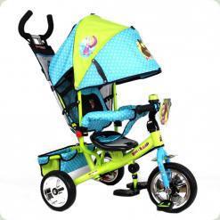 Триколісний велосипед Bambi Маша і Ведмідь MM 0156-01 Зелено-блакитний