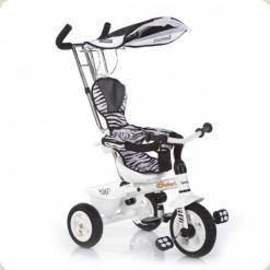 Триколісний велосипед Lexus Trike Safari (надувні колеса) Зебра