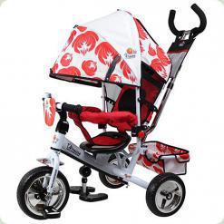 Триколісний велосипед Profi Trike LE-3-03UKR Біло-червоний Ukraine