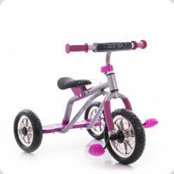 Триколісний велосипед Profi Trike M 0688-1 Сіро-рожевий