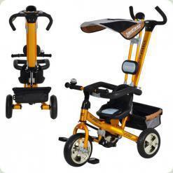 Триколісний велосипед Profi Trike M 1655-1 Золотий