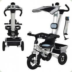 Триколісний велосипед Profi Trike M 1656-2 (надувні колеса) Сірий