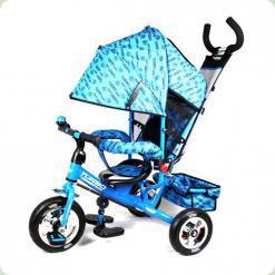 Триколісний велосипед Profi Trike М 5361-1 (надувні колеса) Блакитний