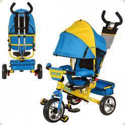 Триколісний велосипед Profi Trike M5363-01UKR Жовто-блакитний Ukraine