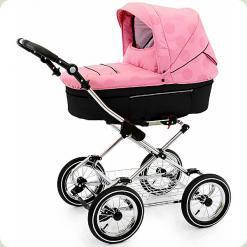 Універсальна коляска Roan Rialto Chrome S - 109 Рожевий