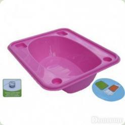 Ванночка Tega прямокутна (670 * 780 * 230) зі зливом TG-028 - pink