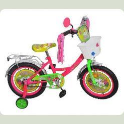 Велосипед 2-х кол. PROFI P1451F-W (салатово-рожевий)
