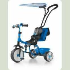 Велосипед 3х кол. M.Mally Boby 2015 з підніжкою (blue)