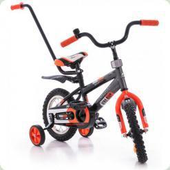 """Велосипед Azimut 12 """"Stitch Чорно-сіро-помаранчевий"""