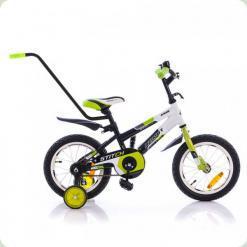 """Велосипед Azimut 12 """"Stitch A Pу салатовий-чорний"""