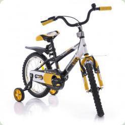 """Велосипед Azimut 14 """"Stitch РУ Жовто-чорно-білий"""