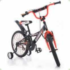 """Велосипед Azimut Crossere 14"""" Графіт-помаранчевий"""