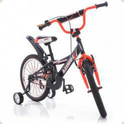 """Велосипед Azimut Crossere 16"""" Графіт-помаранчевий"""