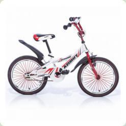 """Велосипед Azimut Crossere 20"""" Біло-червоний"""