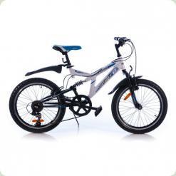 """Велосипед Azimut Dinamic 20 """"Чорно-білий"""