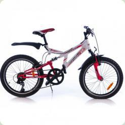 """Велосипед Azimut Dinamic G 20 """"(обладнання Shimano) Червоно-білий"""