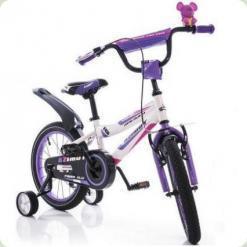 """Велосипед Azimut Fiber 18"""" Біло-бузковий"""