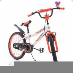 """Велосипед Azimut Fiber 20"""" Біло-помаранчевий"""