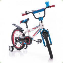 "Велосипед Azimut Fiber 20 ""Синьо-білий"