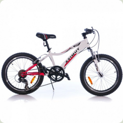 """Велосипед Azimut Knight 20 """"Червоно-білий"""