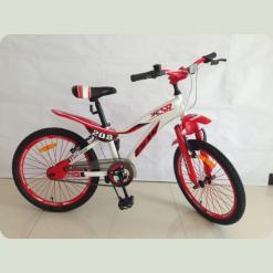 """Велосипед Azimut KSR 20"""" Червоно-білий"""