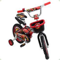 """Велосипед Azimut Pilot 16"""" Тачки Червоно-чорний"""