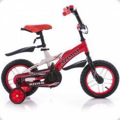 """Велосипед Azimut Rider 14 """"Червоно-білий"""
