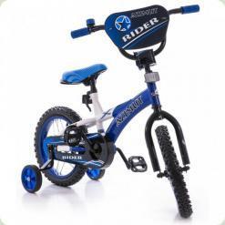 "Велосипед Azimut Rider 14 ""Синьо-білий"