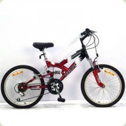 """Велосипед Azimut Stinger 20"""" Чорний"""