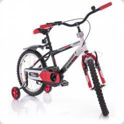 """Велосипед Azimut Stitch 16"""" Чорно-червоний"""