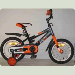 """Велосипед Azimut Stitch 20 """" Помаранчево-сіро-чорний"""